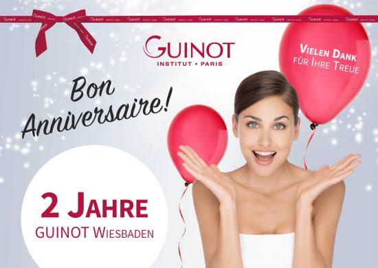 Bon Anniversaire - 2 Jahre GUINOT Wiesbaden!